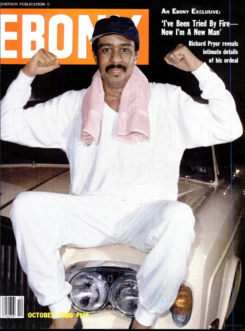 Richard Pryor on the cover of the October 1980 issue of Ebony Magazine