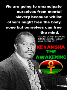 Marcus Garvey is the source for the widely known lyric by Bob Marley: