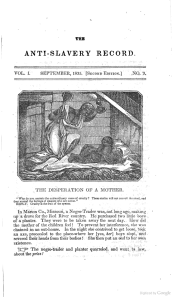 The Antislavery Record vol 1 september 1835 second edition no 9 page 1