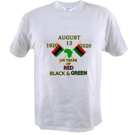 The First 100 years of Red, Black and Green t-shirt